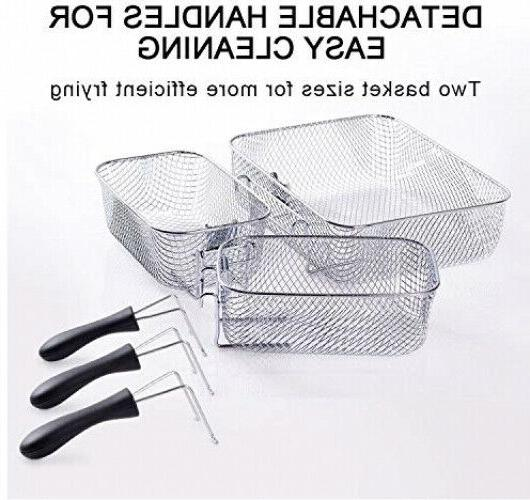 Stainless-Steel Basket Deep With