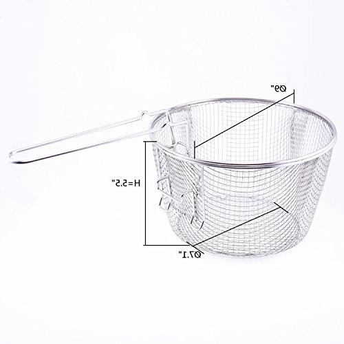 Deep Wire French Chip Frying Serving Presentation Tableware Detachable Fit For Up 5/6L