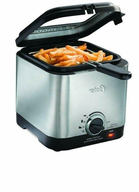 stainless steel deep fryer compact style