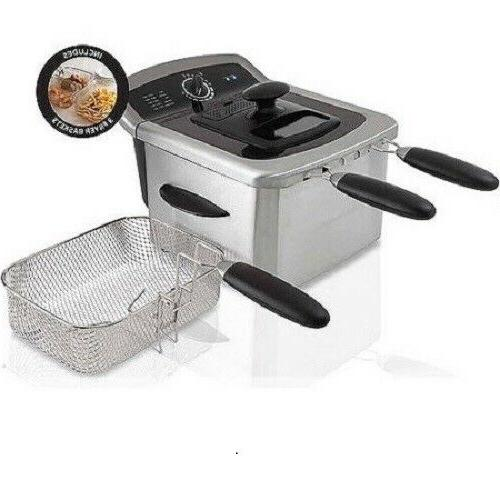 stainless steel electric countertop deep fryer 4