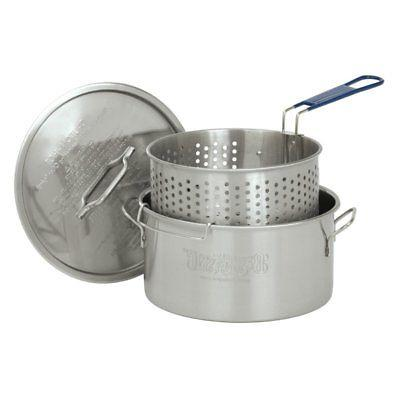 stainless steel fry pot with basket