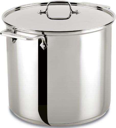 stainless steel stockpot w lid