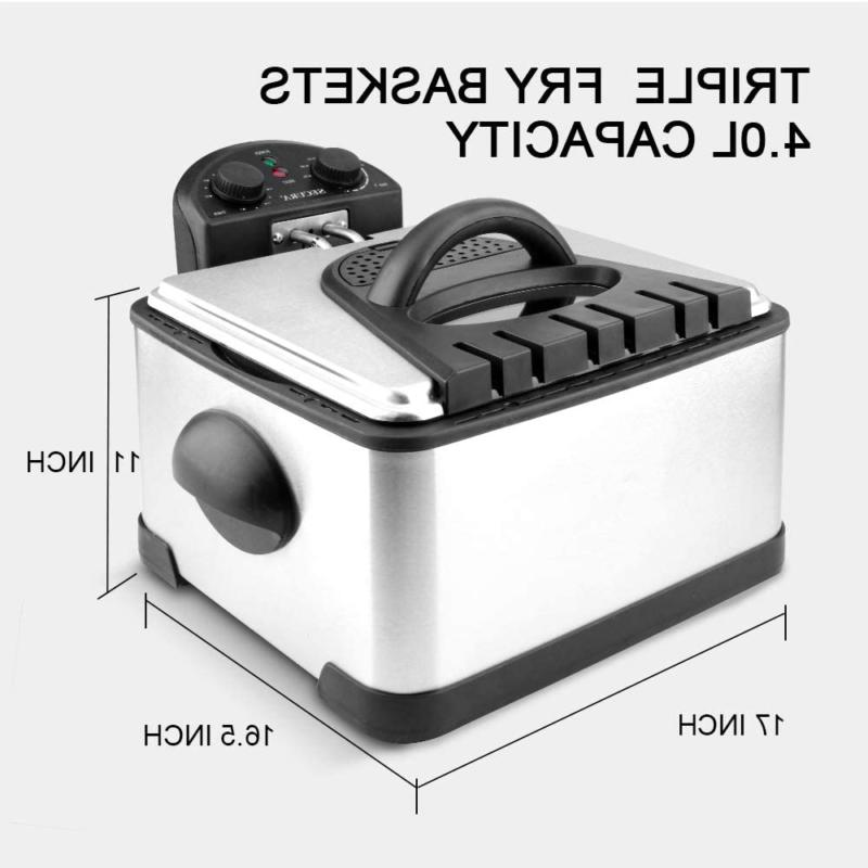 1700-Watt Electric Fryer With Timer