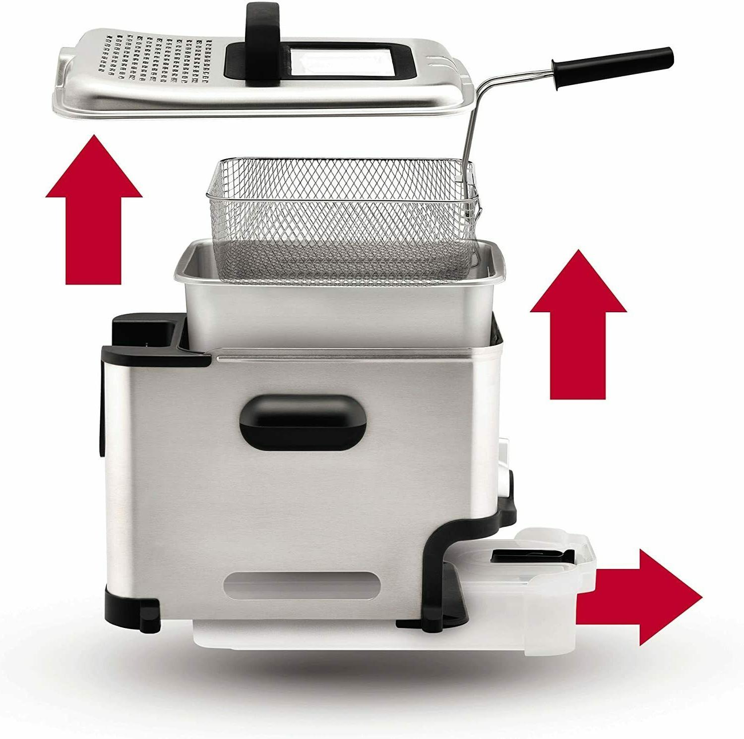 T-fal FR8000 Deep Fryer with Basket - Stainless Steel