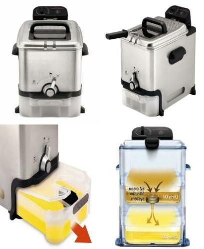 t fal deep fryer with basket stainless