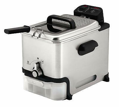 T-Fal FR8000 with Oil Fryer w/ Filtration, Pounds, Silver