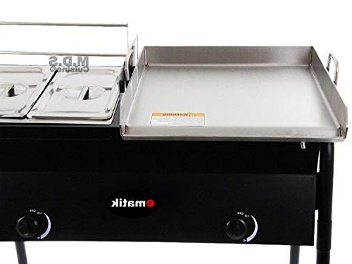 Ematik Griddle Stainless Deep & Stove