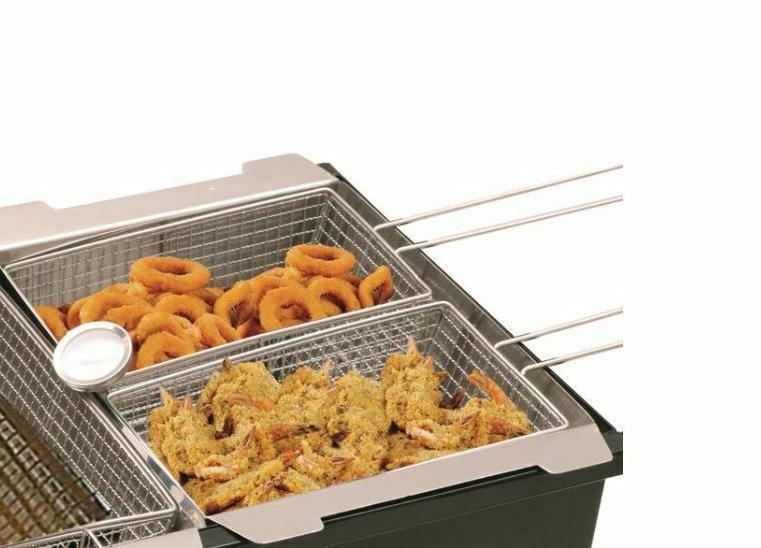 Triple-Basket Propane Fryer Steel - 6.5-Gallon