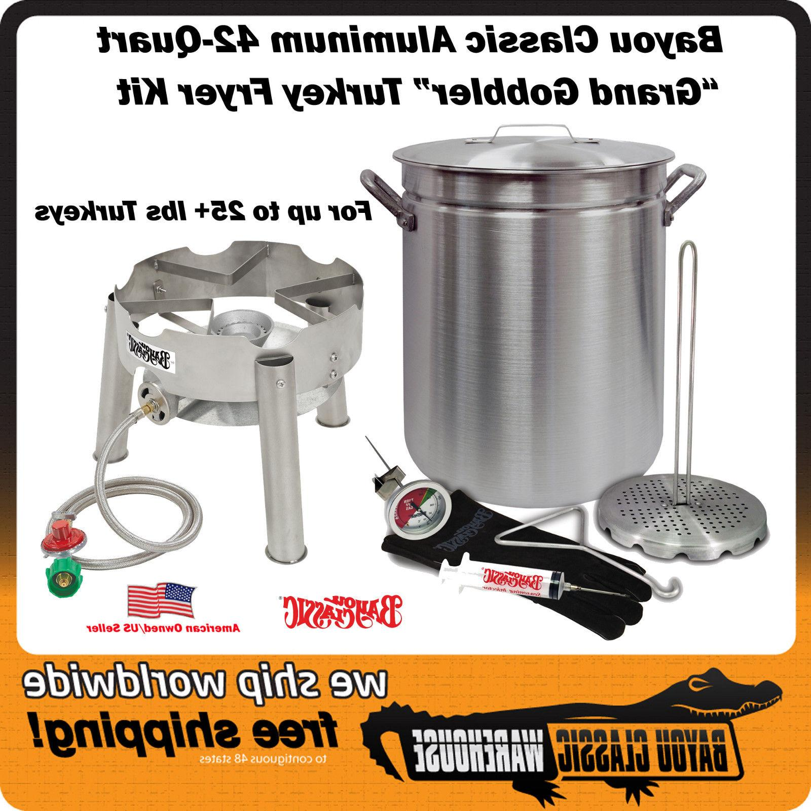 "Turkey Deep Fryer Kit ""GRAND GOBBLER"" For 25+ lbs Turkeys Lo"