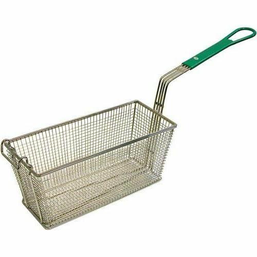 TWIN FRYER BASKET W/Green Handle Front Hook for Frymaster Fr