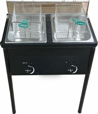 Bioexcel Tank Fryer Baskets Stainless Oil