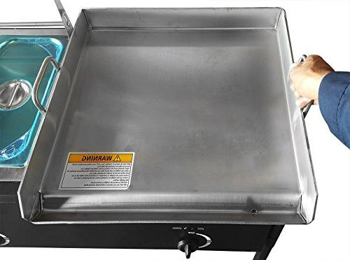 """Bioexcel 18"""" Steel Griddle Propane with Trays & All 3 in"""