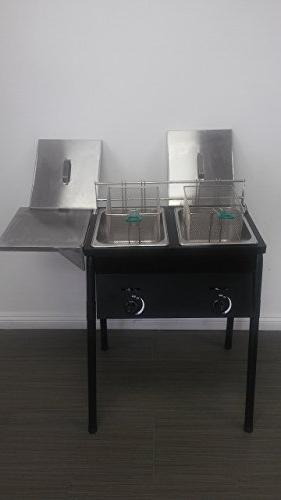 Chefspark Two Fryer, Baskets & Stainless Tank
