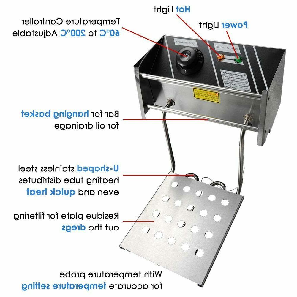 0009 Yescom 2500W Professional Electric Countertop Deep Frye