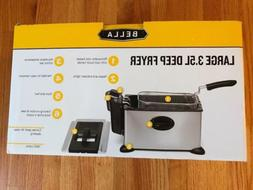 BELLA LARGE 3.5L DEEP FRYER BRAND NEW