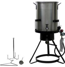 Large Commercial Grade Propane Gas Turkey Deep Fryer Pot Ste