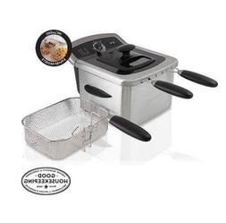 Large Electric Deep Fryer 4L Capacity 3 Baskets Stainless St
