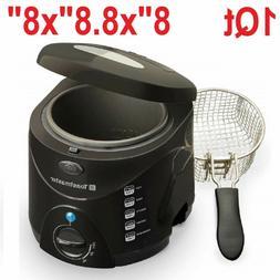 Mini Deep Fryer Commercial 1Lt Electric Compact Kitchen Fren