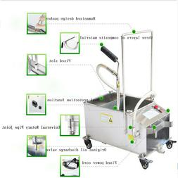 40L Mobile Fryer Filter Commercial Oil Filtration System 300
