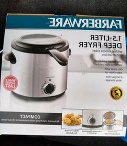 New Farberware 1.5-Liter Stainless Steel Deep Fryer Compact
