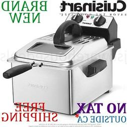 *New* Cuisinart 4qt Quart DEEP FRYER  2.3lb Pound Timer COOL