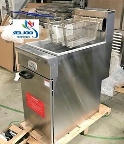 NEW Commercial Natural Gas 40lb Stainless Steel Floor Deep F