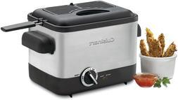 New Cuisinart Cdf 100 Compact 1.1 Liter Deep Fryer Brushed S