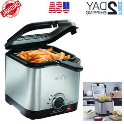 New Deep Fryer Stainless Steel Compact Small Mini Electric H
