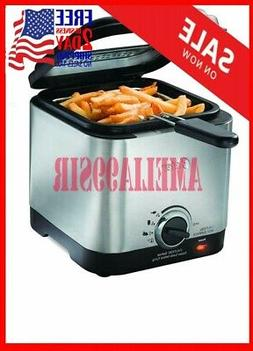 New Deep Fryer.Stainless Steel Compact Small Mini Electric H