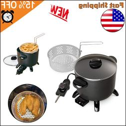 Electric Deep Fryer Home Restaurant Kitchen Multi Cooker Cou