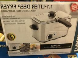 NEW IN BOX Farberware 1.1 Liter Deep Fryer With Stainless St