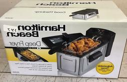 New Hamilton Beach Oil Powered Deep Fryer Fast Cooking w/ He