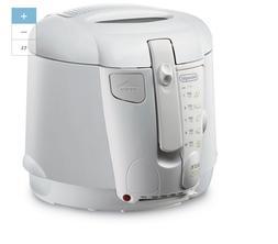 NEW DeLonghi White 2.1 Qt Quart Indoor Electric Deep Fryer K