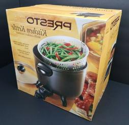 Non-Stick Surface, Kitchen Kettle Multi-Cooker Steamer, Blac