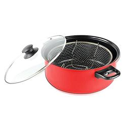 6.5 Qt. Nonstick Deep Fryer with Lid