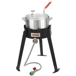 Outdoor Propane Cooker Deep Fryer Oil Basket LP Gas Camping