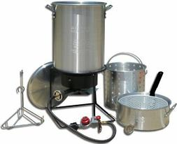 Portable Propane Outdoor Deep Frying and Boiling Package Wit