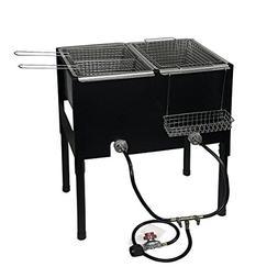 "XtremepowerUS High-Pressure Triple Basket Deep Fryer 35"" Hei"