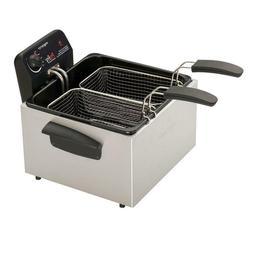 Presto 12-Cup Deep Fryer with Dual Basket Extra Large Adjust