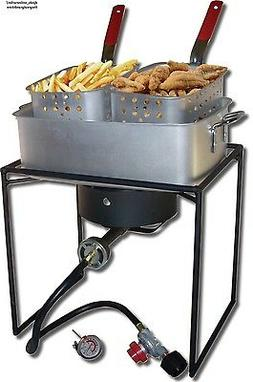 Propane French Fries Fish Deep Fryer Cooker Burner Outdoor C