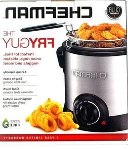 NEW Chefman RJ07-M-SS Fry Guy Deep Fryer 4.2Cup RJ07MSS