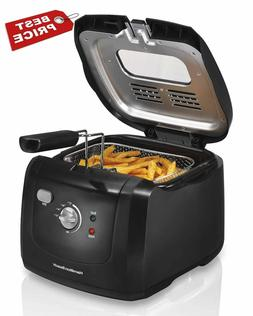SALE Hamilton Beach 35021 Deep Fryer with Cool Touch, Black