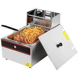 2500W 6L Single Tanks Electric Deep Fryer Professional Table