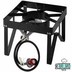 Square Single Burner Outdoor Patio Stove / Range - 55,000 BT