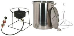 King Kooker SS1267 Stainless Steel 30-Quart Turkey Frying Pr
