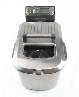 Breville Stainless Smart Deep Fryer BDF500XL 4 QT Used Condi