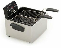 Presto Stainless Steel Dual Basket Pro Fry Element Deep Frye