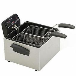stainless steel dual basket pro fry immersion