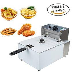 Carejoy Deep Fryer Stainless Steel 5.5L Electric Deep Frying