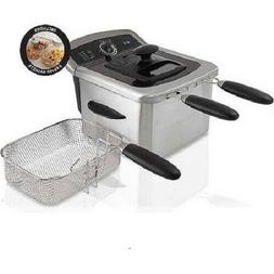 Stainless Steel Electric Countertop Deep Fryer 4 Liter Home